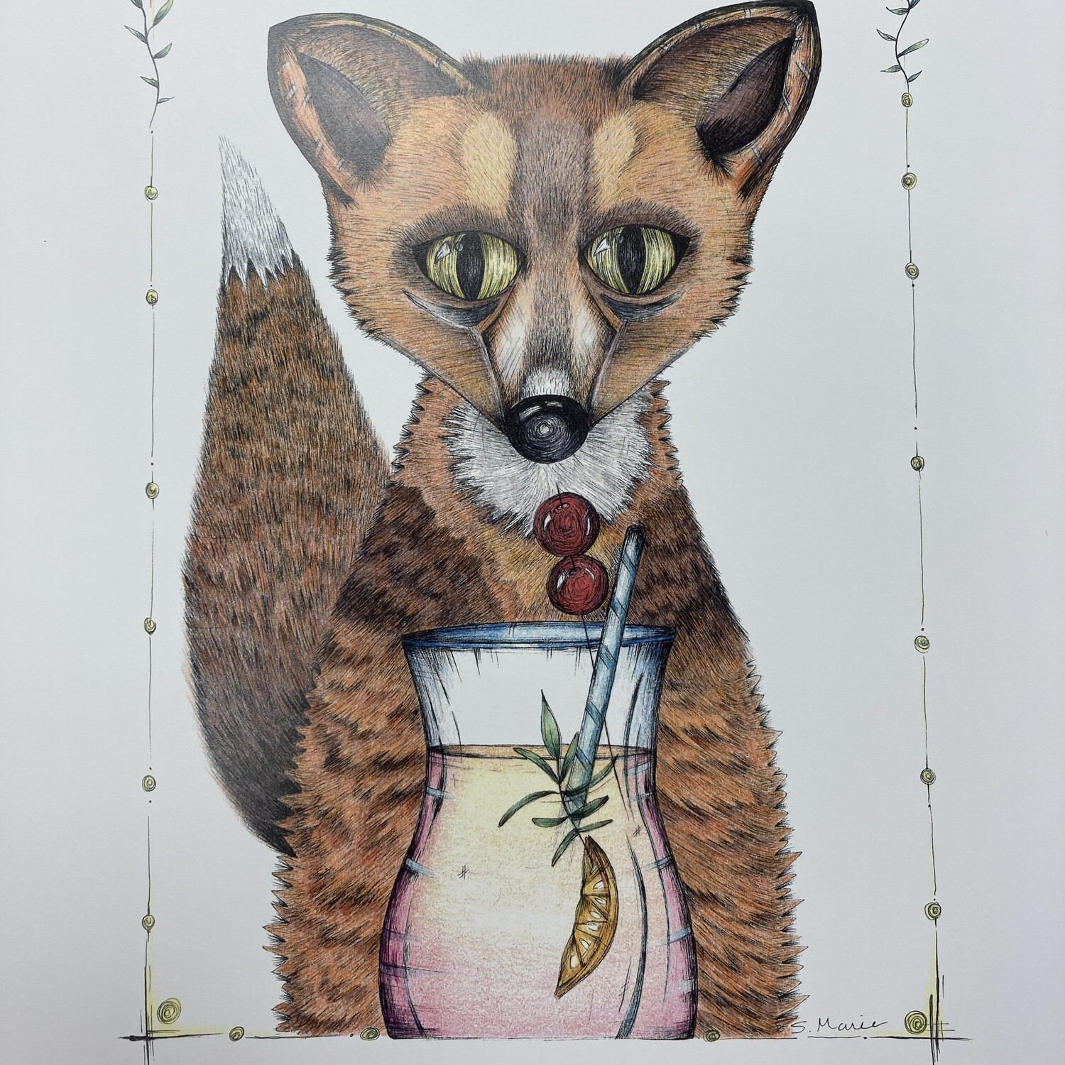 The Foxtail Print By Nuanced Earth Art