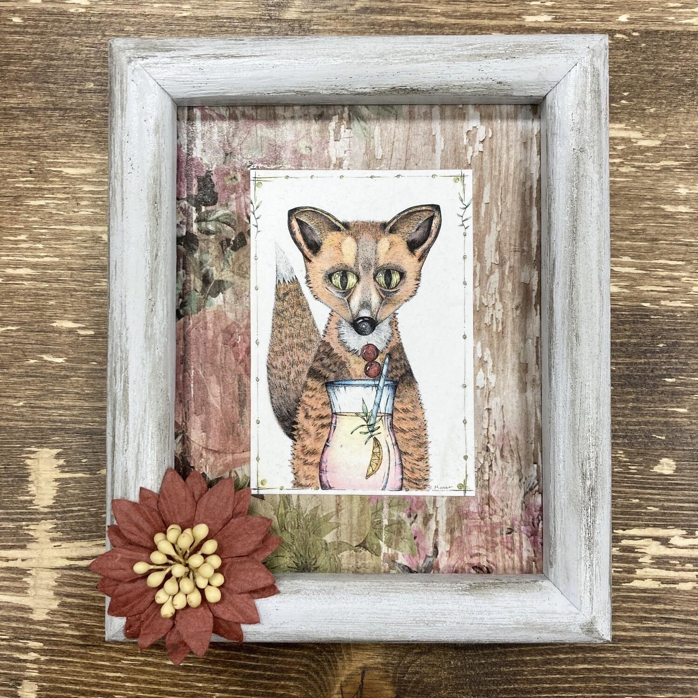 Framed Fox Print By Nuanced Earth Art