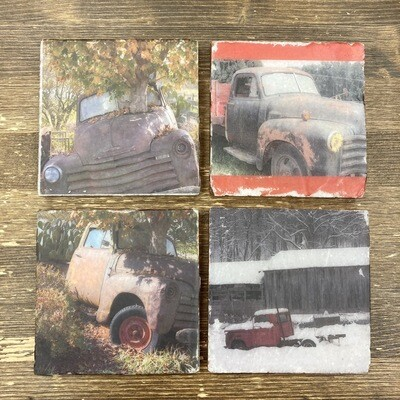 Set Of 4 Truck Coasters
