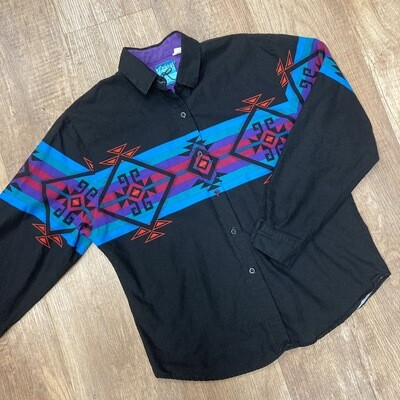 Vintage Roper Western Button-Up | Black