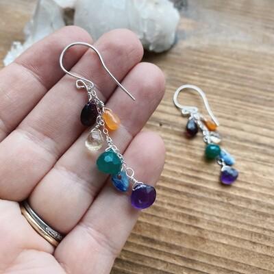 Rainbow Cascade Earrings