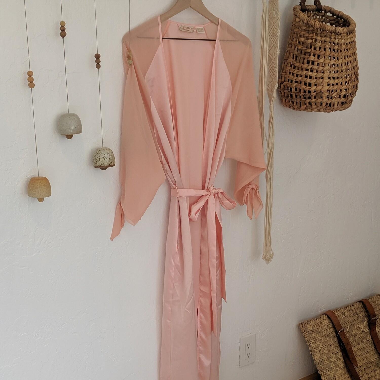 Vintage Victoria Secret Pale Pink Silk Robe