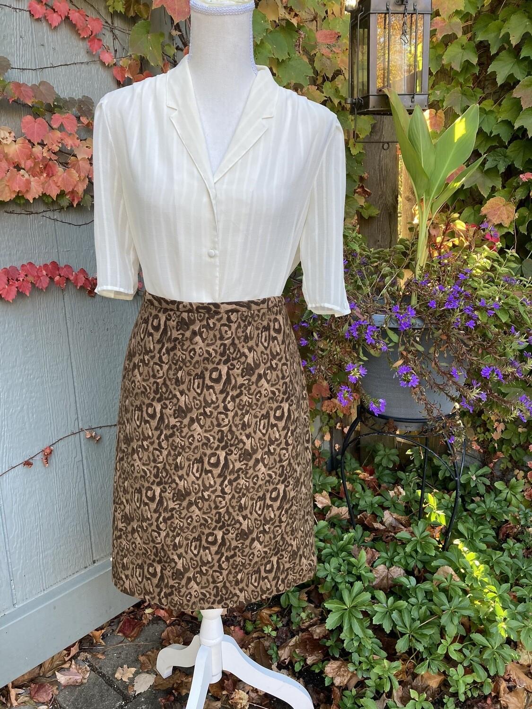 Lined Cheetah Print Skirt