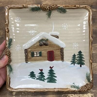 Ceramic Holiday Serving Tray