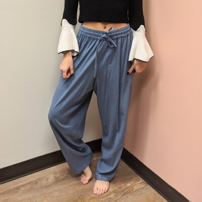 Raw Silk Slouchy Slacks in Periwinkle