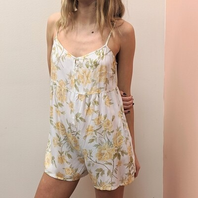 Yellow Rose Slip Romper