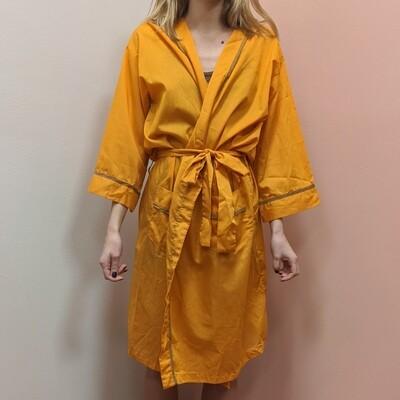 60s Mustard Cotton Robe