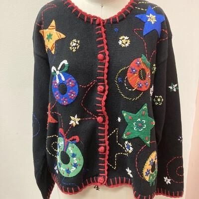 Felt & Embroidery Christmas Cardigan