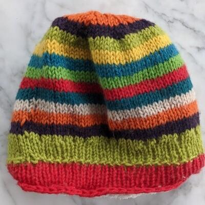 Plush-lined Colorful Knit Skull Cap