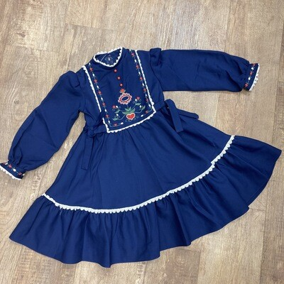 Kids Vintage Scandinavian Embroidered Dress