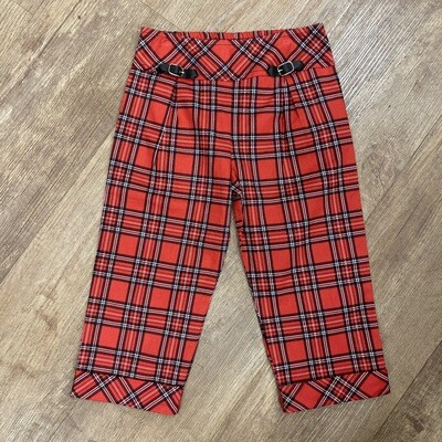 Kids Plaid 90s Culottes | Size 5