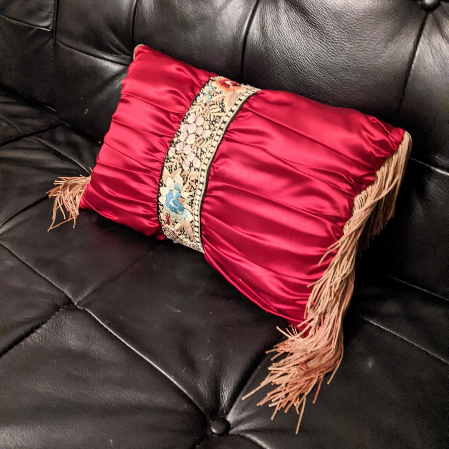 Victorian Fringed Pillow