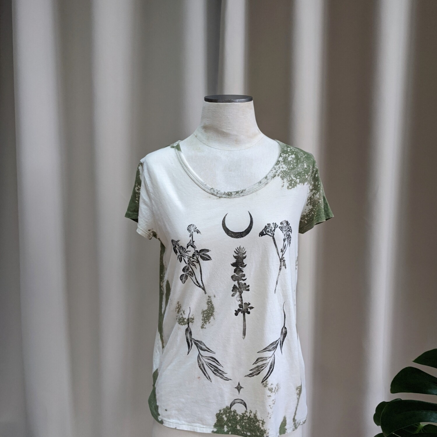 Block Printed Hand-Dyed T-Shirt
