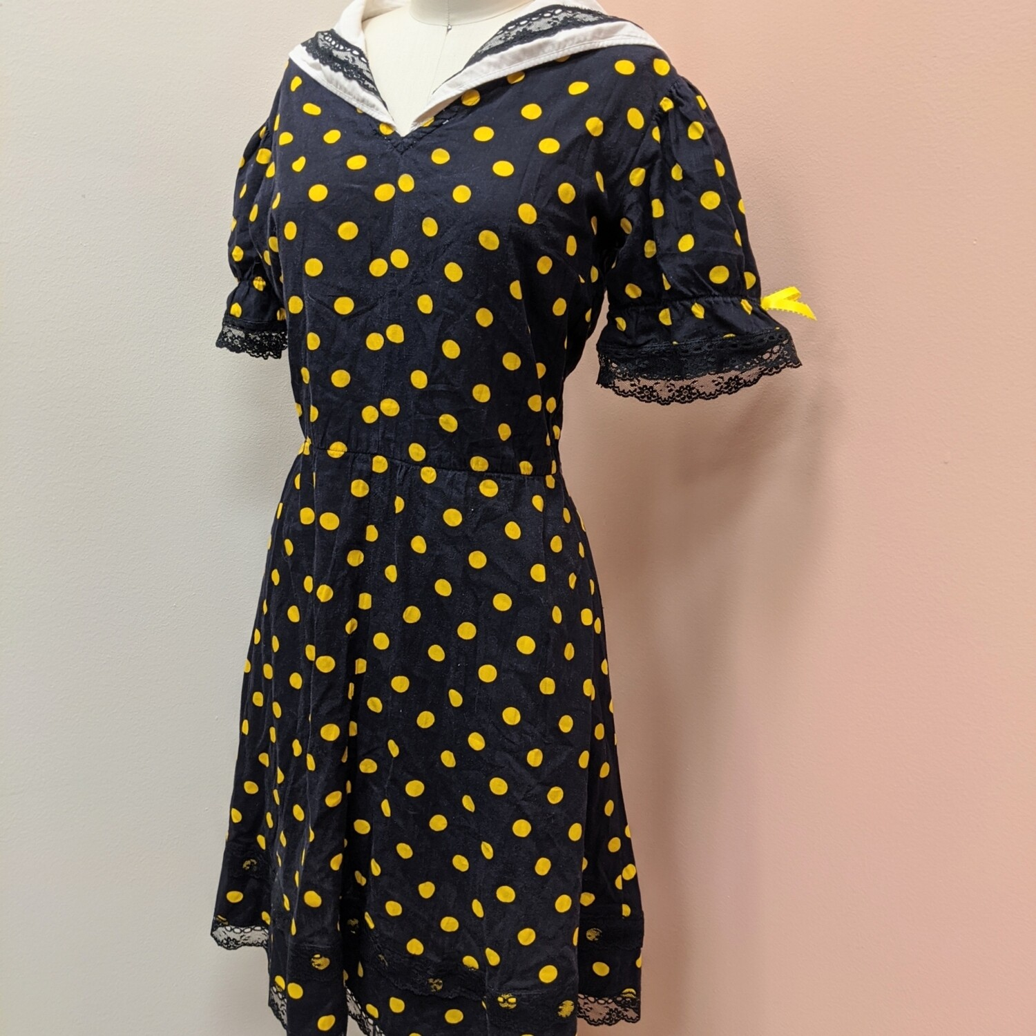 Polka Dot Handmade Vintage Sailor Babe Dress