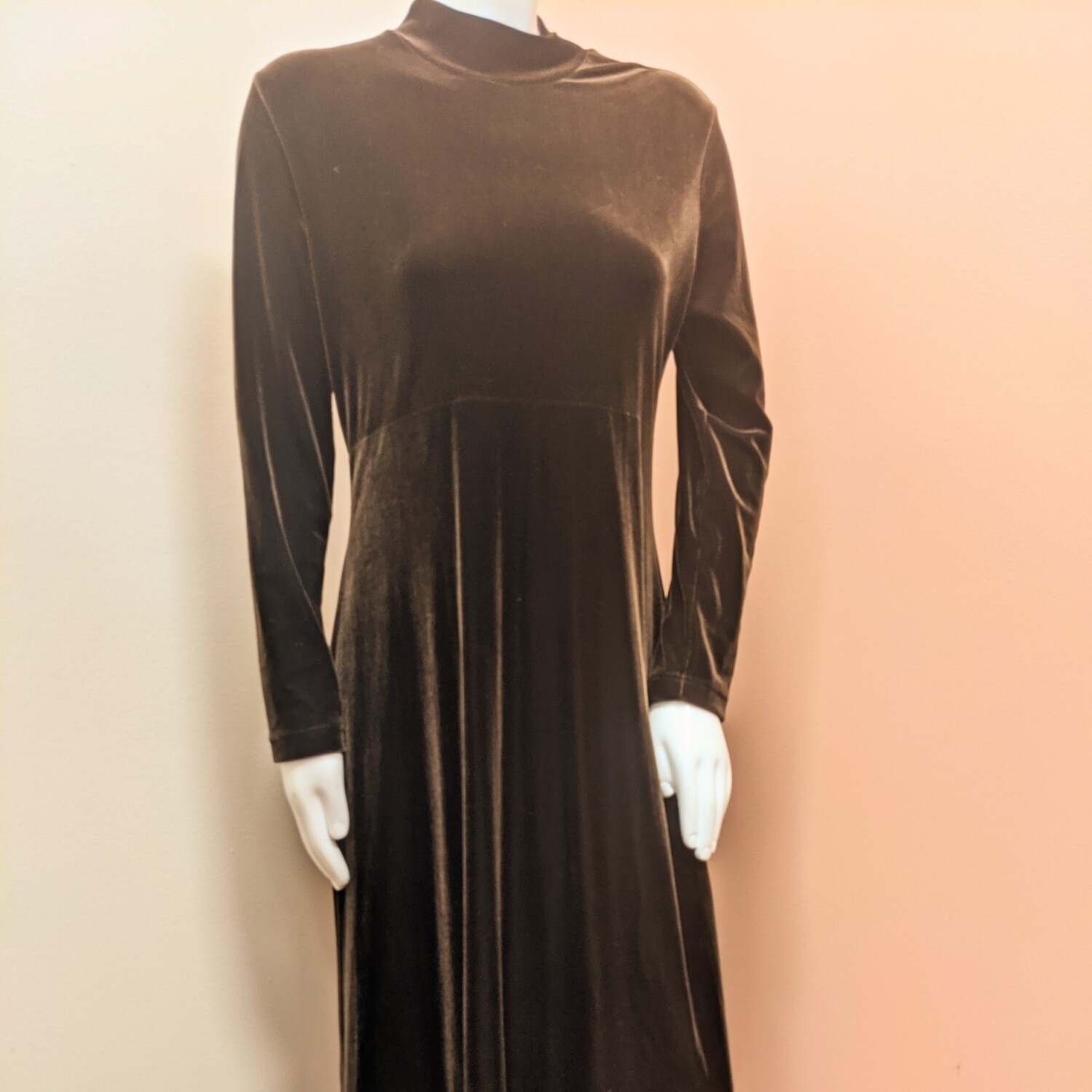Maggy London Dark Chocolate Velvet Maxi Dress
