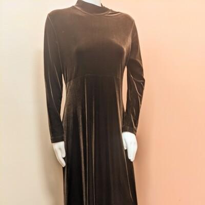 Maggy London Dark Chocolate Velvet Maxi Dress
