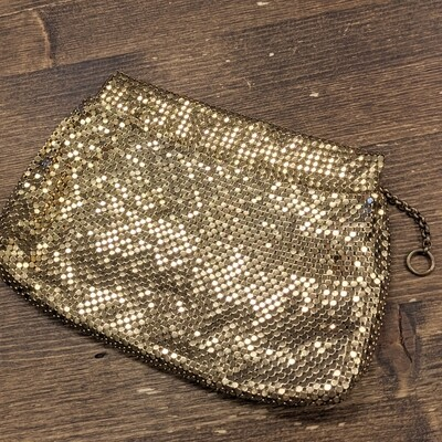 Whiting & Davis Co. Gold Mesh Clutch