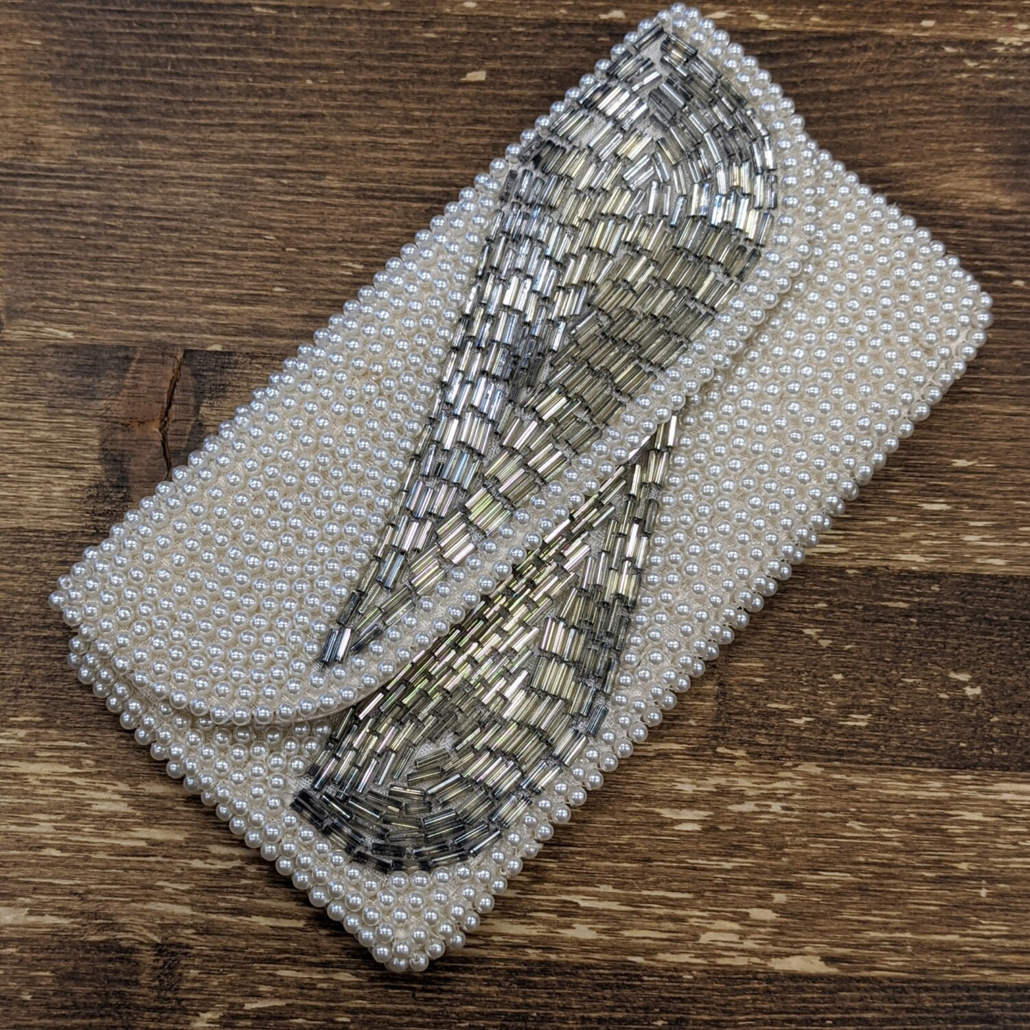 Vintage Pearl Beaded Clutch