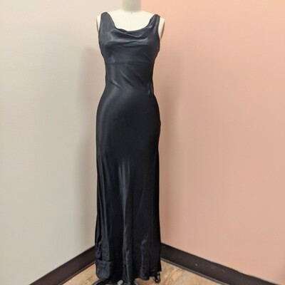 Black Fitted Evening Gown