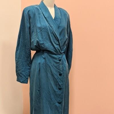 1980s Oxford Shop Silk Dress