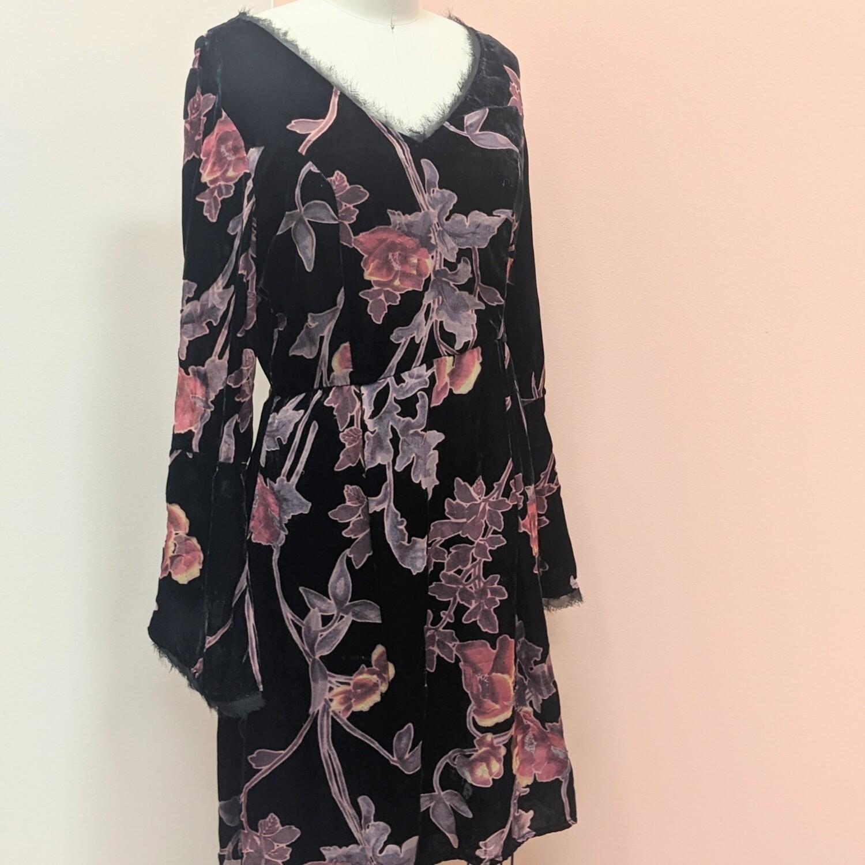 Velvet Burnout Fringe Dress