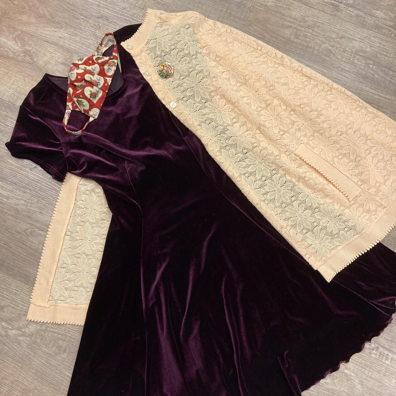 """Velvet Burgundy """"Concert"""" Dress"""
