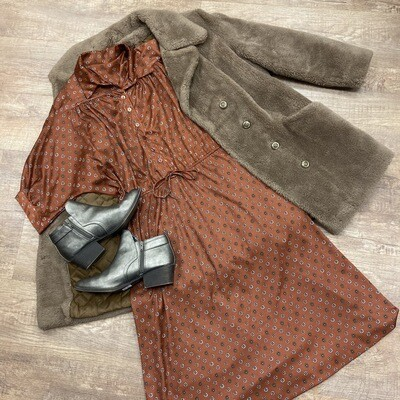 Vintage Rust Poly Dress
