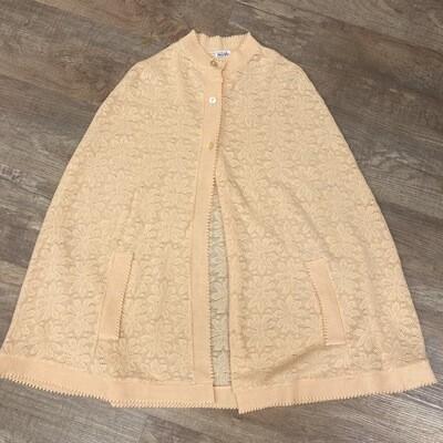 Vintage Peach Crochet Shawl