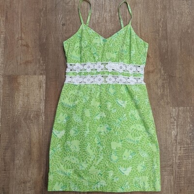 Lilly Pulitzer Lime Crochet Dress