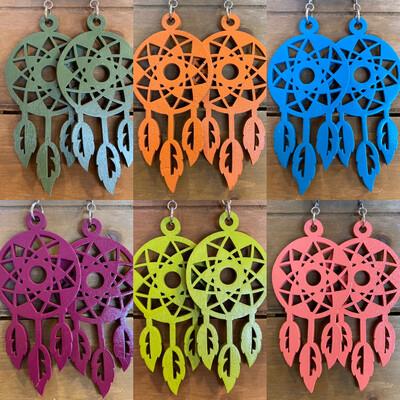 Tribe 79 Wooden Dreamcatcher Earrings