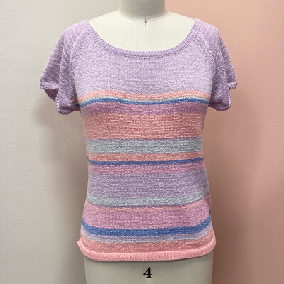 Knit Striped Pastel Blouse