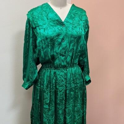 Kelly Green Italian Silk Dress