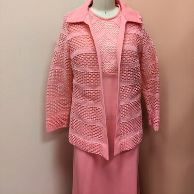 1960s Hot Pink Dress + Bolero