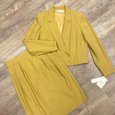 Mustard Yellow 2 Pc Skirt/Blazer Set
