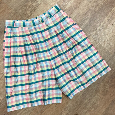 Vintage Silk Lilly Pulitzer Plaid Shorts