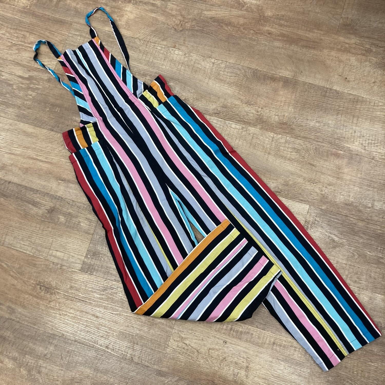 Ecoté Rainbow Striped Overalls