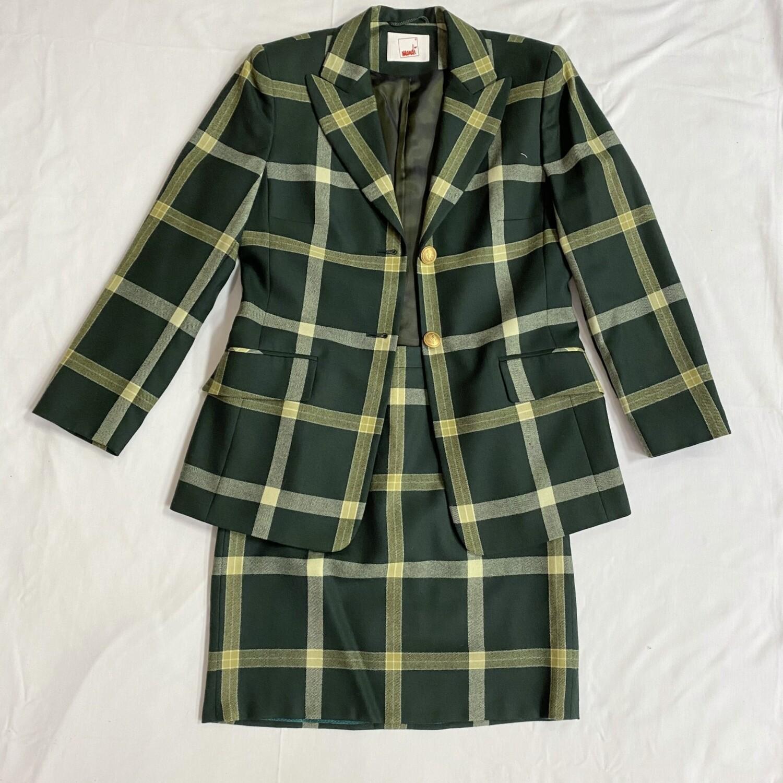 Mondi Hunter Green Plaid Suit Set