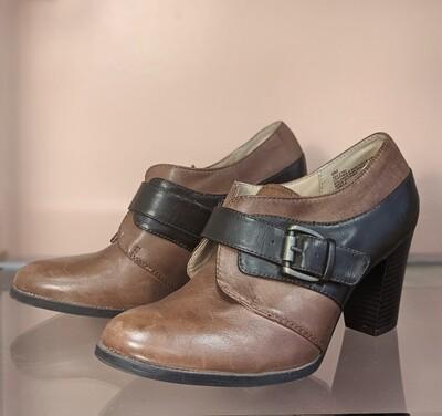 Brown + Black Chunky Heels