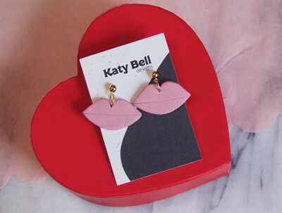Katy Bell Designs Kiss Kiss Polymer Clay Earrings