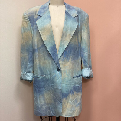 Blue Tie Dyed Blazer