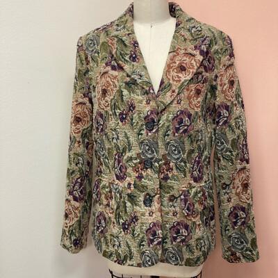 90s Floral Tapestry Blazer