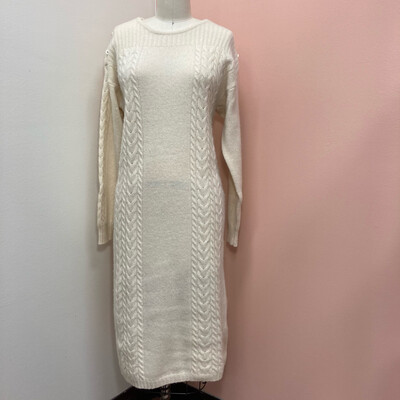 90s Cable Knit Sweater Dress