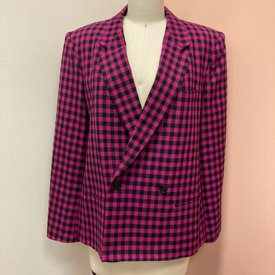 Saks Fifth Avenue Black + Pink Blazer