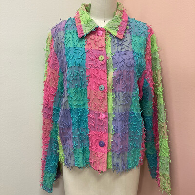 Pastel Fringe Jacket