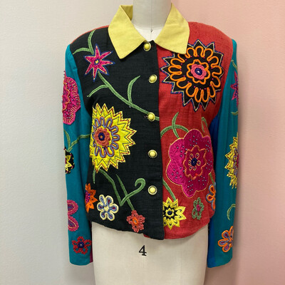 Anage Colorful Embroidered Jacket
