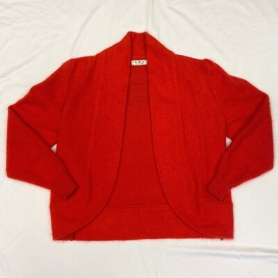 Young Sang Red Angora Cardigan
