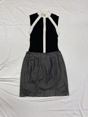 Petite Sophisticates Leather Skirt