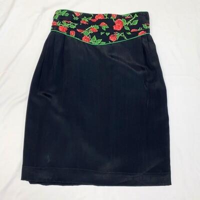 Platinum Collection Black Rose Skirt