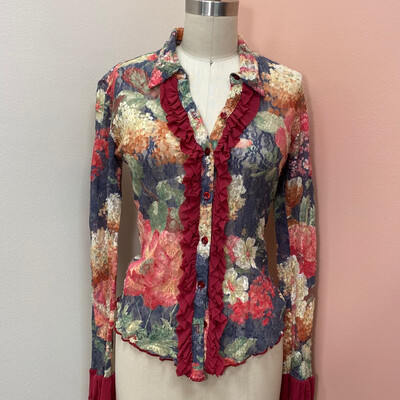 Lace Floral Blouse