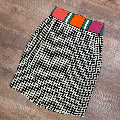 1980s Platinum Collection Houndstooth Skirt